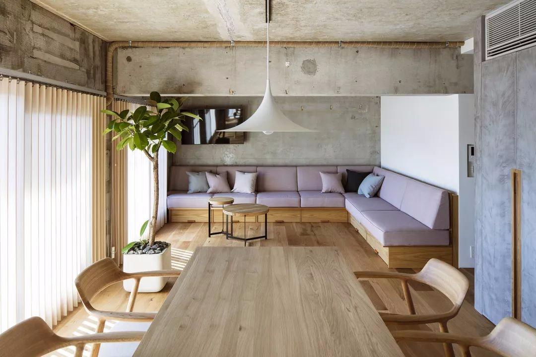 74㎡精致简约风,水泥与木质,简简单单最舒适