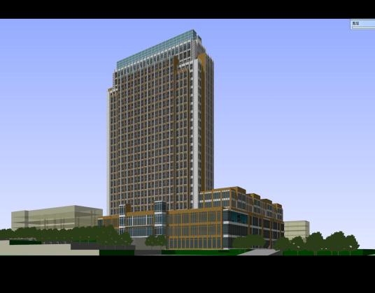 现代办公楼整体方案